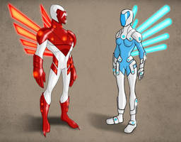 Hawk and Dove 2099 by payno0