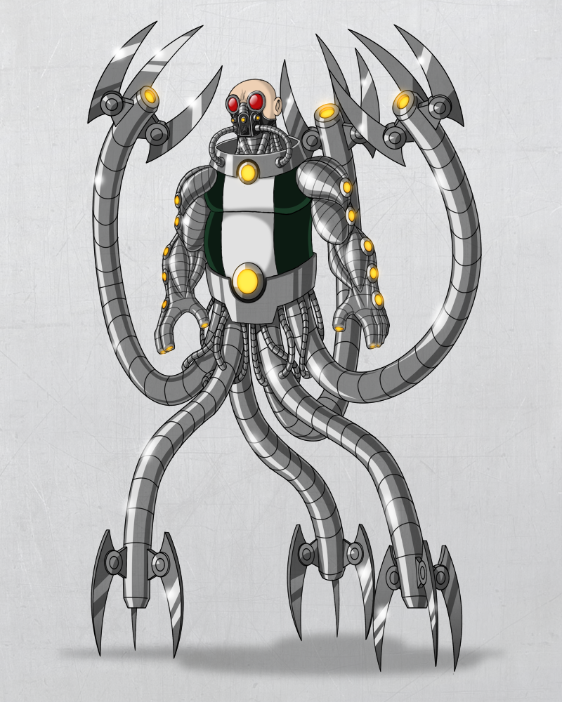 doctor octopus redesign by payno0 on deviantart