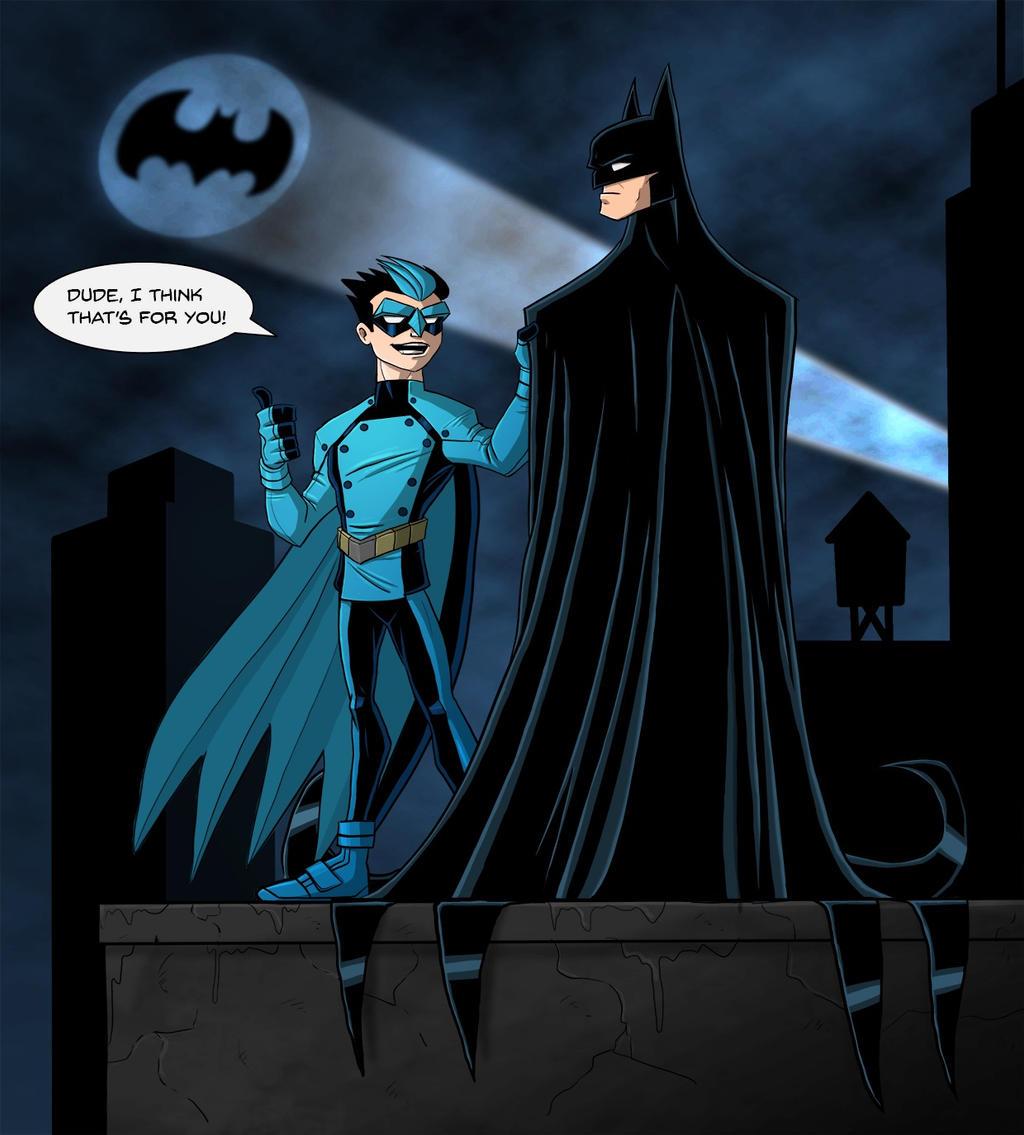DU Sept. challenge- Blue Jay 'n' Batman by payno0 on DeviantArt