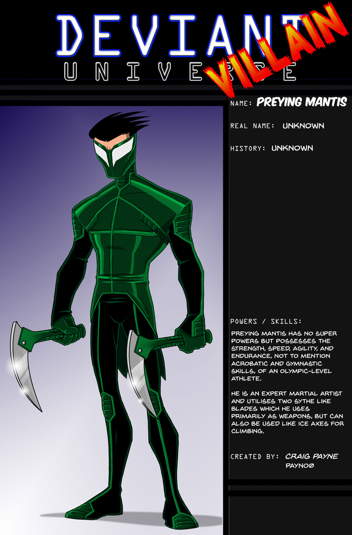 Deviant Universe- Preying Mantis by payno0