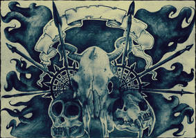 animal skulls by bkmz1011