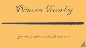 Ginevra 'Ginny' Weasley Wand Wallpaper