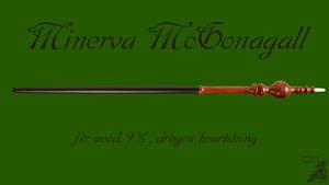 Minerva Mcgonagall Wand Wallpaper