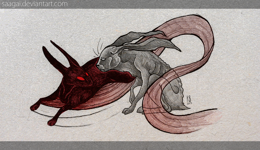 Black rabbit of inle tattoo
