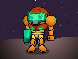 Samus is on the moon by BradRedfield