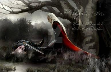 Battle of Dagorlad the death of Oropher by Pelegrin-tn