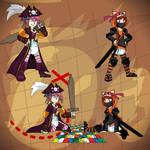 Pirate Aisha and Ninja Bonnie