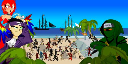 Pirates versus Ninjas war
