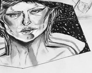 Tribute sketch to Starman