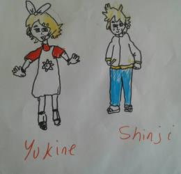 Yukine and Shinji as Kids!!! by Kiro-Kurusu