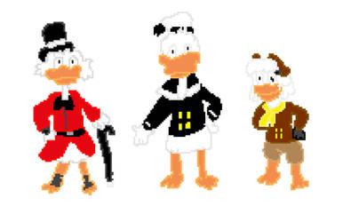 Also here: The Ducktales Arttrade Picture! by Kiro-Kurusu