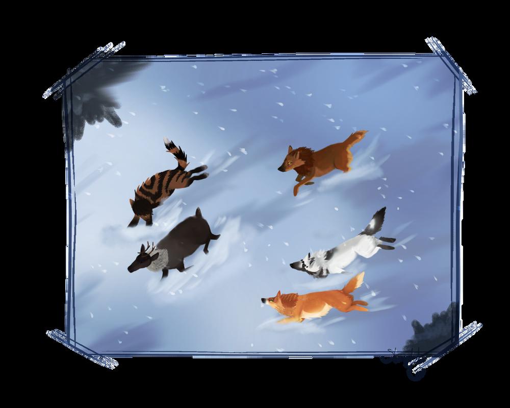 Winter's Hunt by Starphishy