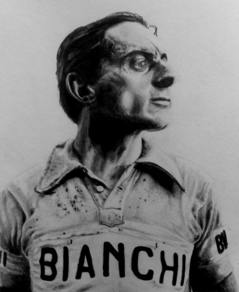 Fausto Coppi by sky-rail