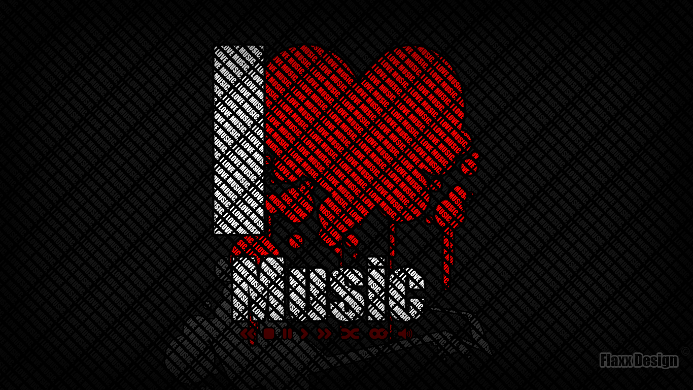 I Love Music By FlaxxDesign On DeviantArt