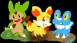 6th Generation Starter Pokemon by NSYee36