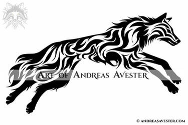 571f0ccd7036d AndreasAvester 11 0 Leaping Wolf Tribal Tattoo by AndreasAvester