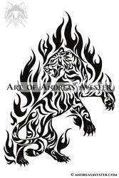 3bb37678d4cdc AndreasAvester 5 0 Flame Tiger Tribal Tattoo by AndreasAvester