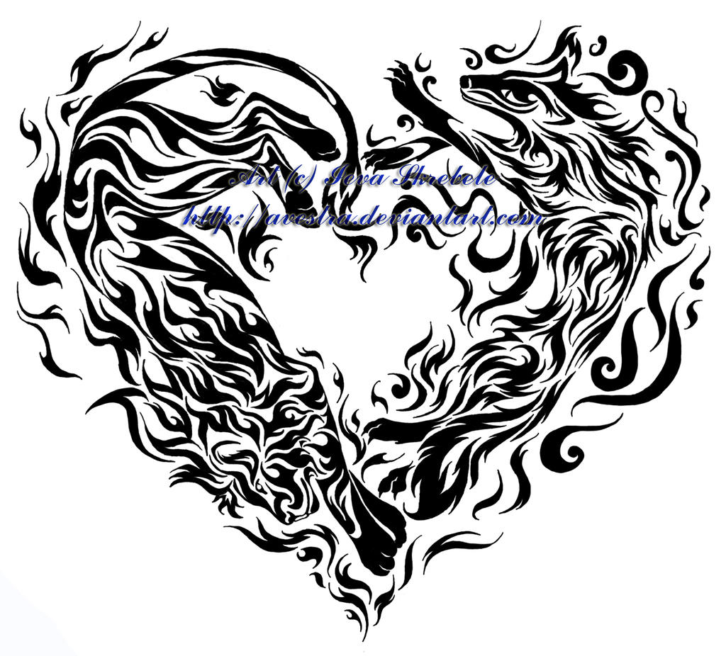 Fire and Air Heart Tribal