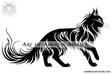 b3d63751b1924 AndreasAvester 9 0 Walking Cat Tribal Tattoo II by AndreasAvester