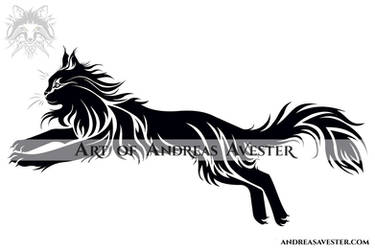 5b93434f65a3d AndreasAvester 233 41 Jumping Cat Tribal Tattoo by AndreasAvester