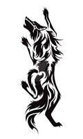 Climbing Wolf Tribal Tattoo