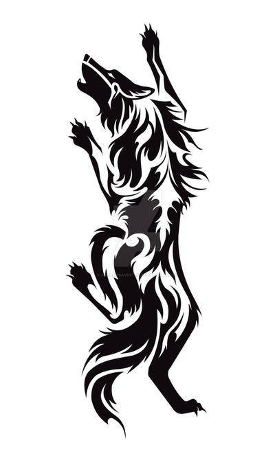 Climbing Wolf Tribal Tattoo By Avestra On Deviantart