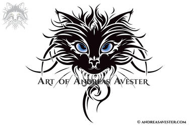be2b40481c242 AndreasAvester 277 64 Cat Head Tribal Tattoo by AndreasAvester