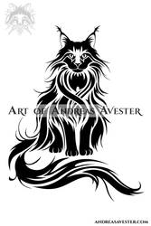 Maine Coon Cat Logotype by AndreasAvester