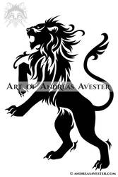 Heraldic Lion by AndreasAvester