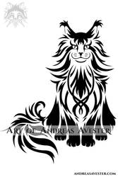 Maine Coon Tribal Design
