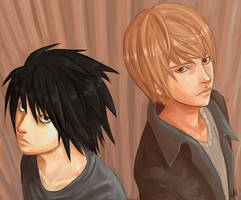 Death Note: More Raito and L by Lokklyn