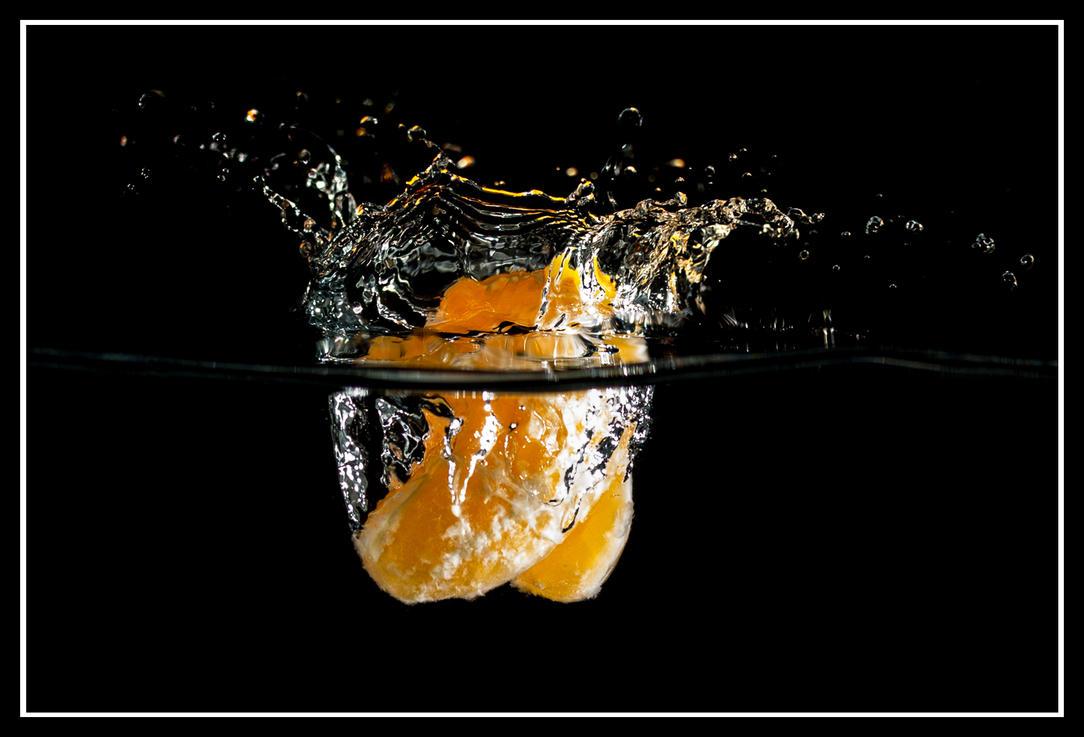 Tangerine splash II by TomazKlemensak