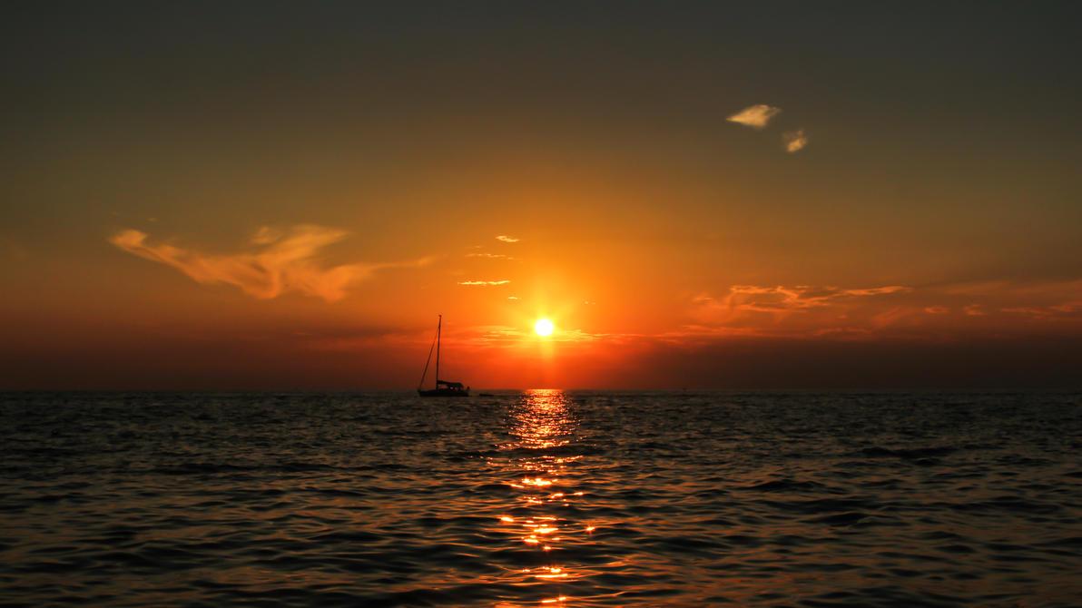 Sunset in Piran by TomazKlemensak