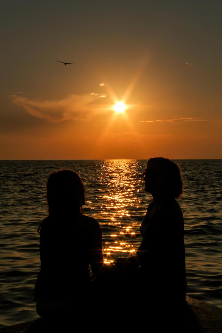 Sunset chat by TomazKlemensak
