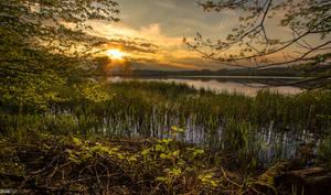 Sunset at Lake Komarnik