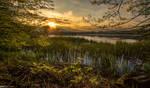 Sunset at Lake Komarnik by TomazKlemensak