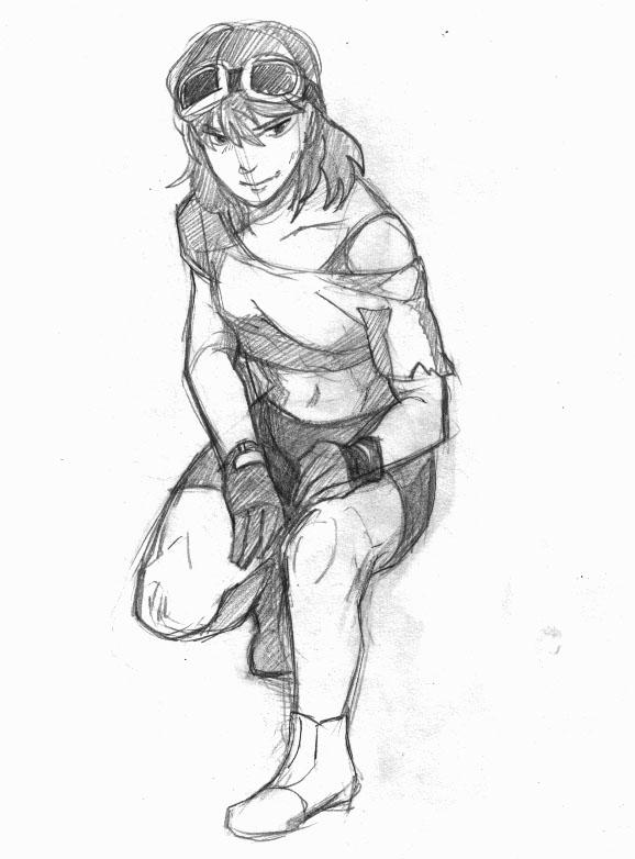Sora sketch by XyraFhoan