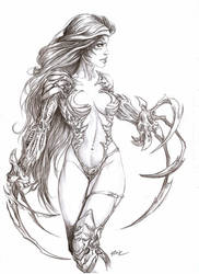 Witchblade ready to fight