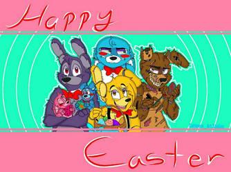 HAPPY EASTER- by CartoonieArtStudios
