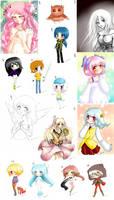 Draws compilation by littleriyu