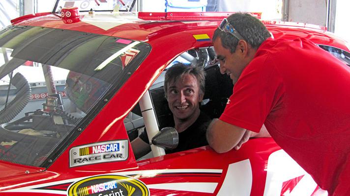 Richard drives a nascar!