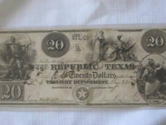 Texas 20 bill