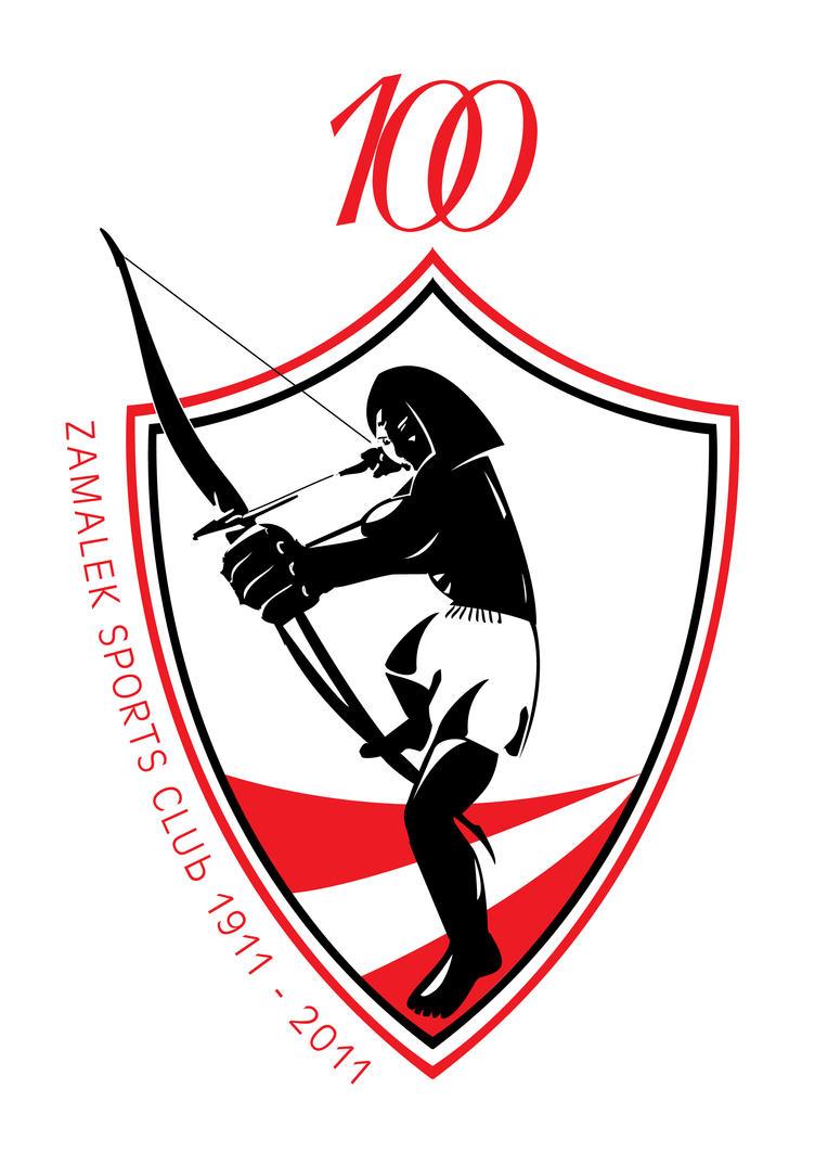 Zamalek century logo by elnagar01 on DeviantArt