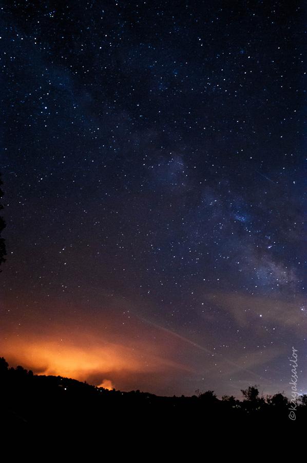 Smoke and stars by kayaksailor