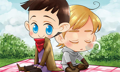 BBC Merlin - Merlin + Arthur by krings2