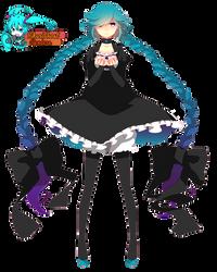 Hatsune Miku [Render] by HikariGhost