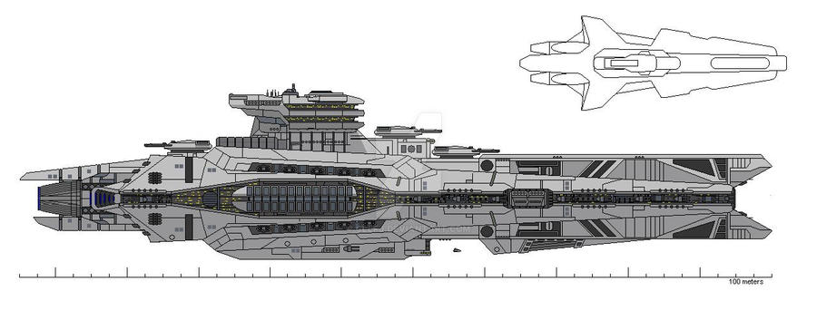 Gladius-class Destroyer by ClefJ