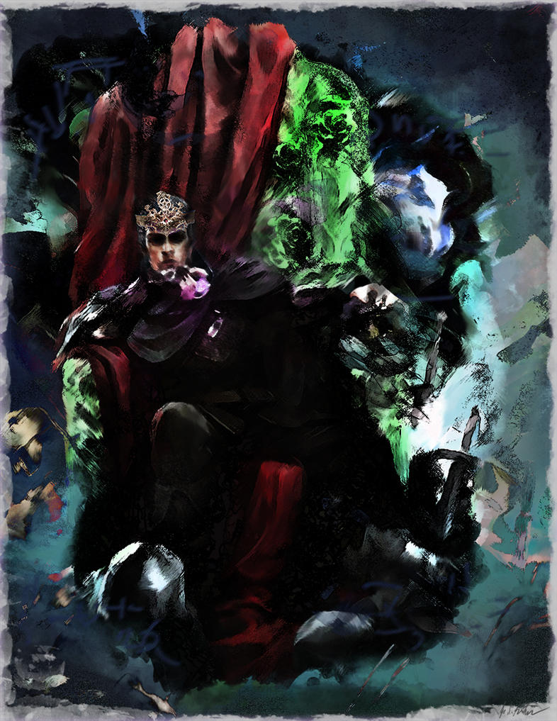 Dimitri on the Emerald Throne by ClefJ