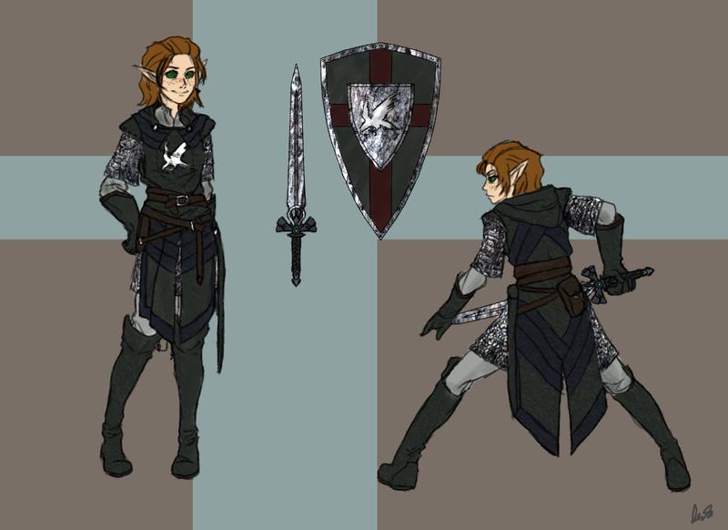Sydney Voserit- Knight of the White Raven by ClefJ