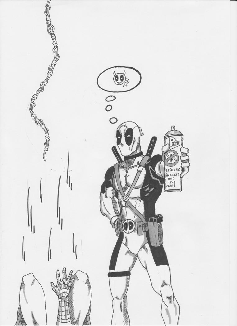 Deadpool VS Spidey by Eldhrad